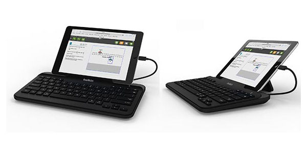 Wired Tablet Keyboard with Stand