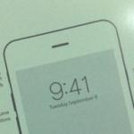 Фото вкладыша из коробки iPhone 6 с датой анонса смартфона