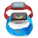 Как выглядят Apple Watch в сравнении с Pebble Time