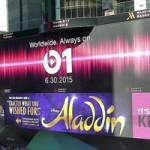 В преддверии запуска Apple Music в Нью-Йорке появился огромный баннер Beats 1
