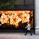 В витринах лондонского универмага распустились огромные цветы