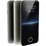 Красивый концепт iPhone 7 с сенсорной кнопкой Home