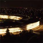 В cети появилась ночная аэровидеосъемка Apple Park